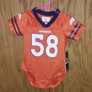 Broncos NFL Miller 58 jersey onesie 12 M